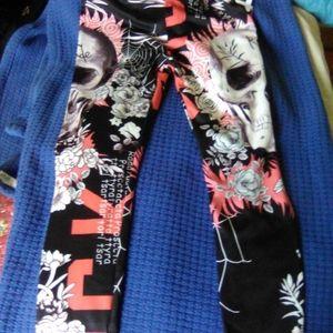 2 For $15 Sugar Skull Tik Tok Yoga Pants